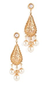 Ben-Amun Imitation Pearl Drop Earrings