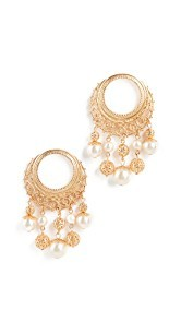 Ben-Amun Earrings with Multi Imitation Pearl Drop