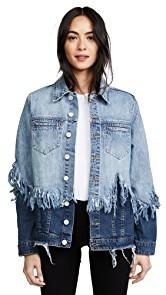 Blank Denim Double Shredded Denim Jacket