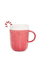 Gift Boutique Red Sweater Mug and Candy Cane Stirrer