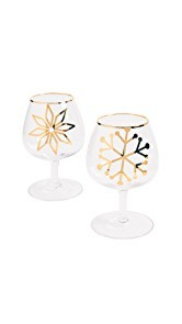 Gift Boutique Snowflake Glasses Set of Two