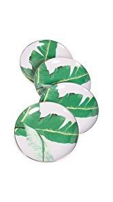Gift Boutique Botanical Leaf Dessert Plate Set of 4