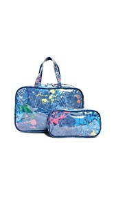 Gift Boutique Childs Paint Splatter Cosmetic Bag Set