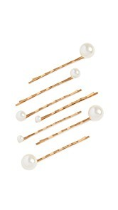 Jennifer Behr Imitation Pearl Bobby Pin Set of 7