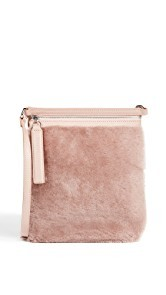 KARA Small Shearling Waist Bag
