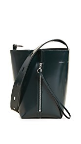 KARA Polished Panel Pail Bucket Bag