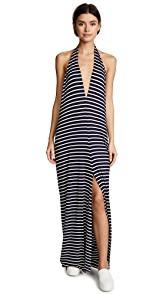 Loyd/Ford Belted Drape Maxi Dress