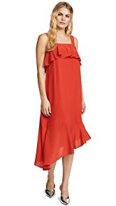 Madewell Doris Ruffle Midi Dress