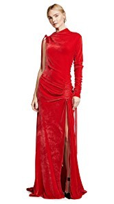 Monse Velvet Drawstring Gown