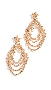 Oscar de la Renta Star Fish Drop Earrings
