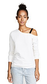 Pam & Gela One Shoulder Sweatshirt with D-Ring Strap