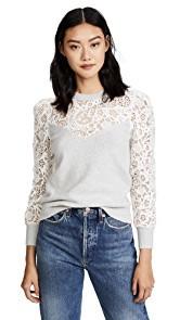 Rebecca Taylor Lace Mix Sweater