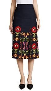 Stella Jean Floral Trompe lOeil Skirt