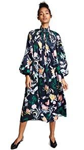 Tibi Gothic Floral Edwardian Dress