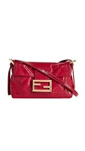 What Goes Around Comes Around Fendi Patent Baguette Bag (Previously Owned)