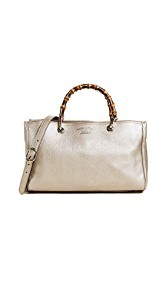 What Goes Around Comes Around Gucci Leather Bamboo Handbag (Previously Owned)