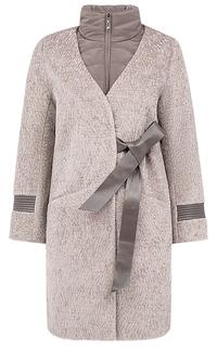 Шуба из овчины со съемным текстильным воротом Virtuale Fur Collection
