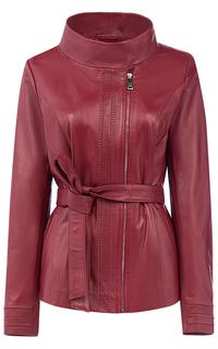 Куртка из натуральной кожи с поясом LE Monique