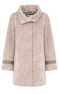 Шуба из вязанной овчины на синтепоне Virtuale Fur Collection