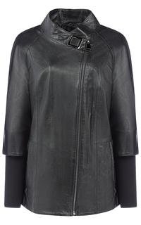 Женская куртка из натуральной кожи La Reine Blanche