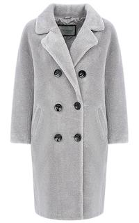 Пальто из вязаной овчины Virtuale Fur Collection