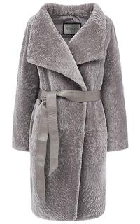 Шуба из овчины с поясом Virtuale Fur Collection
