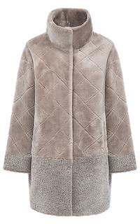 Шуба из овчины с воротником-стойкой Virtuale Fur Collection