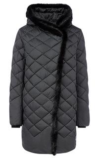 Стеганая куртка с отделкой мехом норки LE Monique