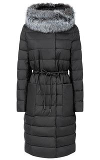 Пальто на искусственном пуху с отделкой мехом лисы LE Monique