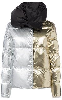 Двухсторонний пуховик со съемным шарфом La Reine Blanche