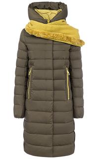 Пальто на искусственом пуху с трикотажным шарфом Neohit
