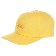 Бейсболка классическая Stussy Tonal Stock Low Cap Yellow