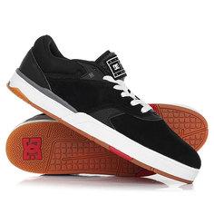 Кеды кроссовки низкие DC Shoes Tiago Black/White/Red