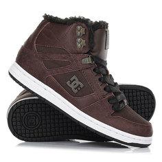 Кеды кроссовки зимние женские DC Shoes Rebound Hi Wnt Brown/Chocolate