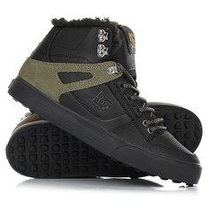 Кеды кроссовки зимние DC Shoes Spartan Hi Wnt Black/Olive