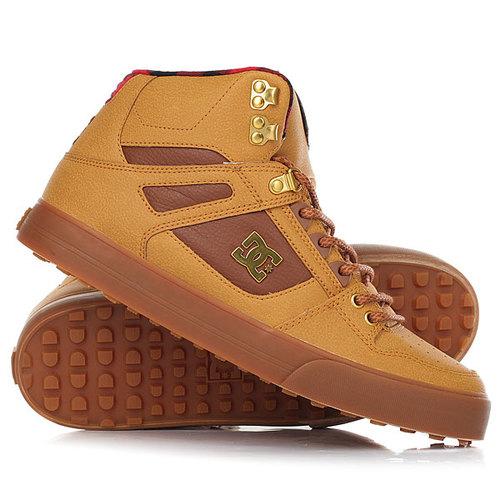 Кеды кроссовки высокие DC Shoes Spartan Hi Wnt Wheat/Black/Dk Choco