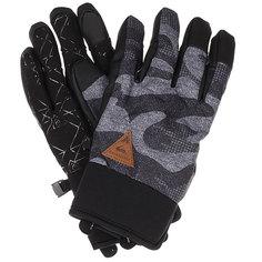 Перчатки детские Quiksilver Method Youth Black Grey Camokazi