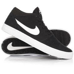 Кеды кроссовки высокие Nike SB Portmore II Solar Mid Black/White