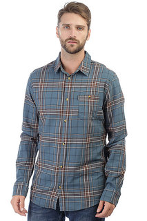 Рубашка в клетку Rip Curl Faded Check Shirt Indian Teal