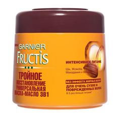 GARNIER Маска-масло для волос FRUCTIS Тройное восстановление 300 мл