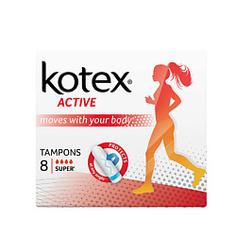 KOTEX Тампоны ACTIVE Супер 8 шт