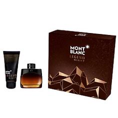 MONTBLANC Подарочный набор Legend Night Парфюмерная вода, спрей 50мл + Гель для душа 100мл