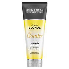 JOHN FRIEDA Шампунь осветляющий для натуральных, мелированных и окрашенных светлых волос Sheer Blonde Go Blonder 250 мл
