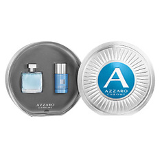 AZZARO Набор Azzaro Chrome Туалетная вода, спрей 50 мл + Дезодорант-стик без спирта 75 мл