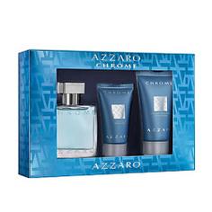 AZZARO Набор Azzaro Chrome Туалетная вода, спрей 30 мл + Бальзам после бритья 30 мл + Шампунь для тела и волос 50 мл