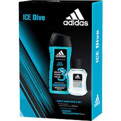 ADIDAS Набор мужской Ice Dive Лосьон после бритья 50 мл + гель для душа 250 мл