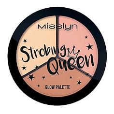 MISSLYN Сияющая палетка для контуринга лица Strobing Queen Glow Palette Strobing Queen 3x4,5 г
