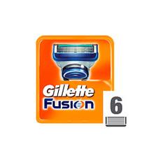 GILLETTE Сменные кассеты для мужской бритвы Gillette Fusion 6 шт.
