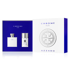 AZZARO Набор Chrome Pure Туалетная вода, спрей 50 мл + Дезодорант-стик 75 мл