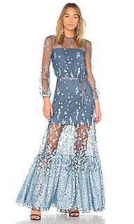 Вечернее платье из выжженного бархата corra - Alexis